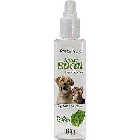 Spray Bucal Pet Clean com sabor para Cães e Gatos