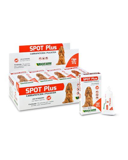 Spot Plus Antipulgas Carrapatos Pipeta Óleo 3 ml Cães Até 20 kg