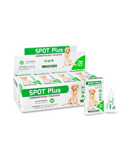 Spot Plus Antipulgas Carrapatos Pipeta Óleo 6 ml Cães Até 40 kg