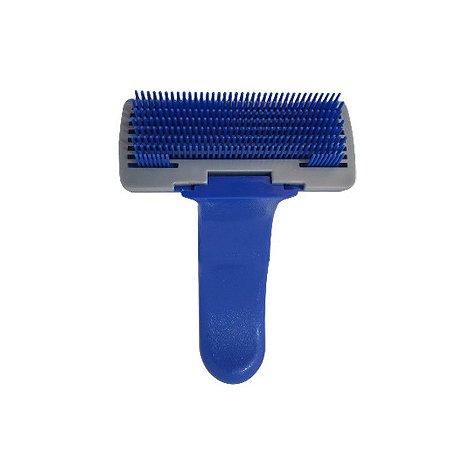 Escova rasqueadeira com removedor de pelos automático