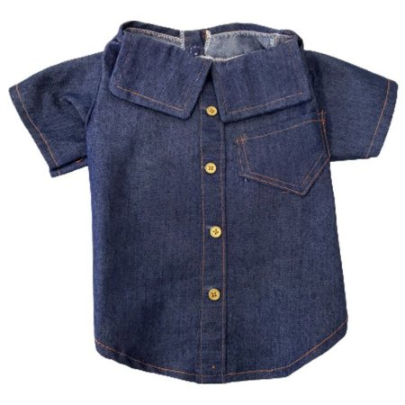 Camisa estilo jeans roupa para cães N°6