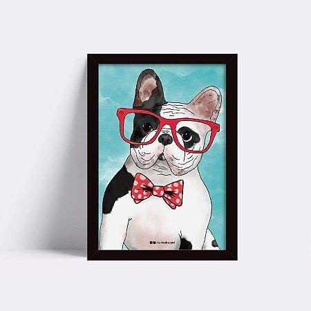Quadro Bulldog Geek Vintage