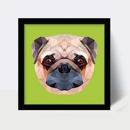 Quadro Pug Face Quadrado