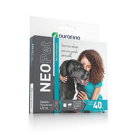Antipulgas e Carrapatos Ouro Fino Neopet 4,02 mL para Cães acima de 40 Kg