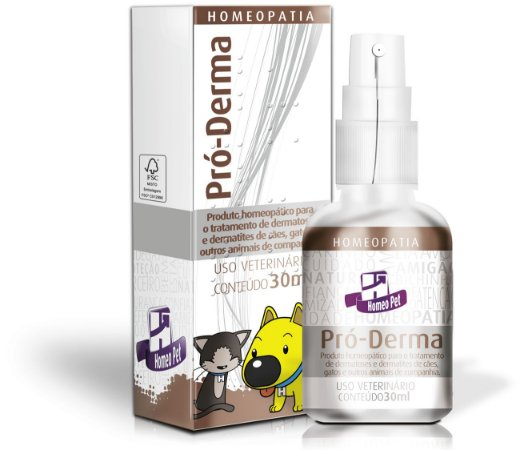 Sistema de Terapia Homeopet Alergias de Pele Pró-Derma - 30 mL
