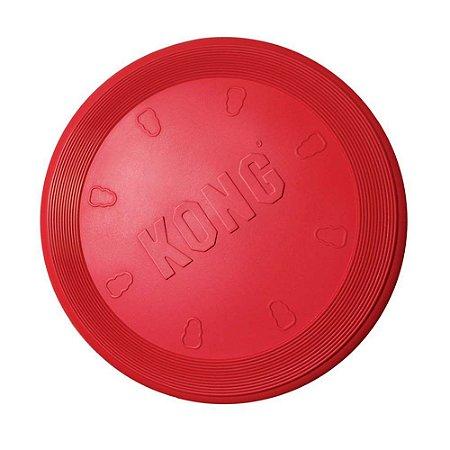 Brinquedo Interativo KONG Flyer Disco Flexível Vermelho
