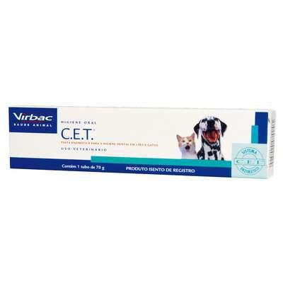 Pasta Dental Virbac Enzimática C.E.T para Cães e Gatos de 70 g