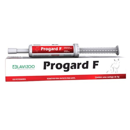 Progard F 5g Vermífugo Oral Gatos Lavizoo