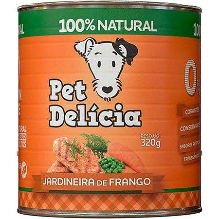Ração Pet Delícia Jardineira de Frango 320g