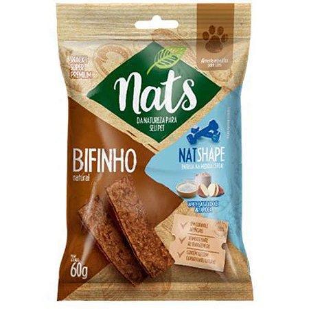 Bifinho Natural Nats NatShape para Cães 60g