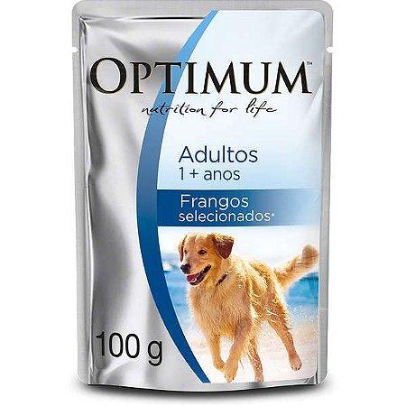 Ração Úmida Optimum Sachê Raças Grandes Frango para Cães Adultos 100g