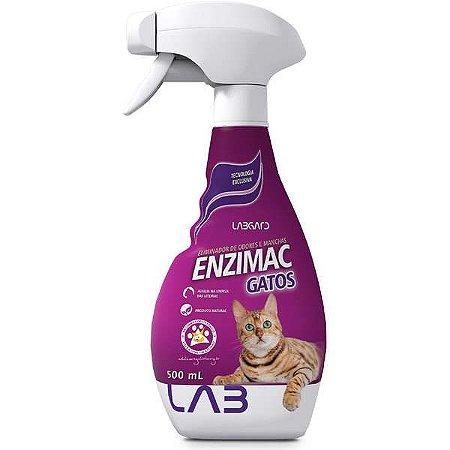 Eliminador de Odores e Manchas Labgard Enzimac Spray para Gatos 500ml