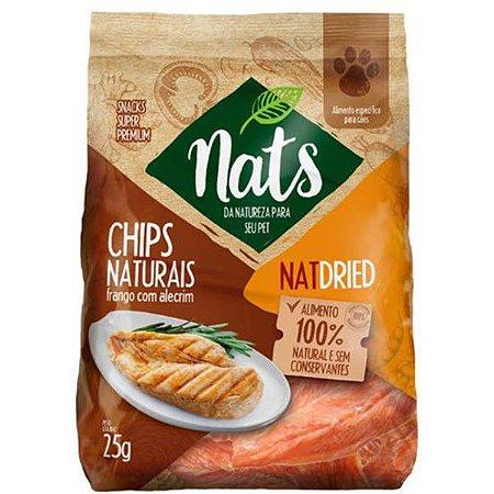Chips Naturais Nats NatDried Frango com Alecrim para Cães 25g