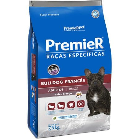 Ração Seca Premier Pet Raças Específicas Bulldog Francês para Cães Adultos