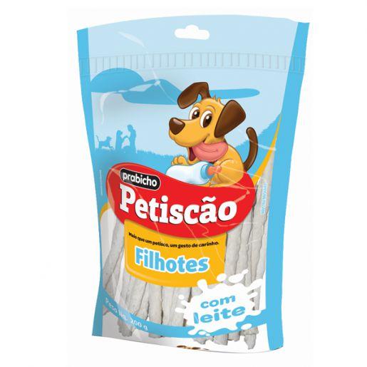Osso Palito Fino com Leite Cachorros Filhotes Petiscão 200g