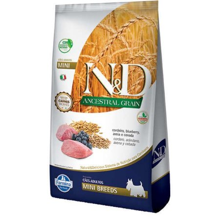 Ração Farmina N&D Ancestral Grain Cordeiro Cães Adultos Raças Pequenas