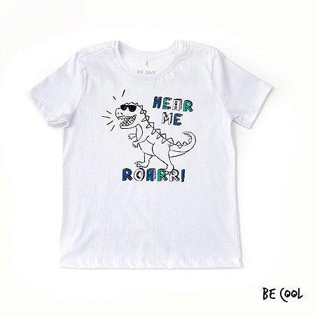Camiseta Dino manga curta menino