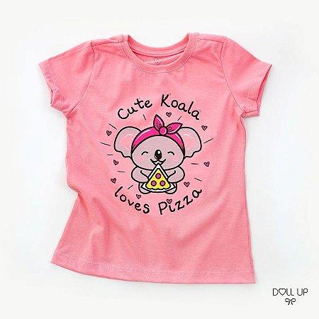 Camiseta Cute Koala manga curta menina