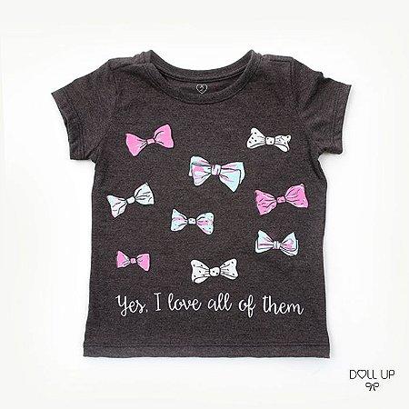 Camiseta Lacinhos manga curta menina