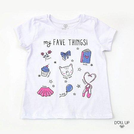 Camiseta My Fave Things manga curta menina