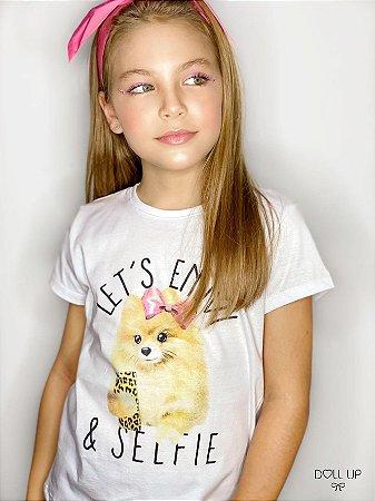 Camiseta Lulu manga curta menina