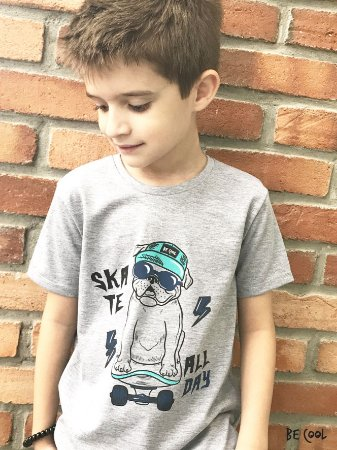 Camiseta Bulldogue manga curta menino