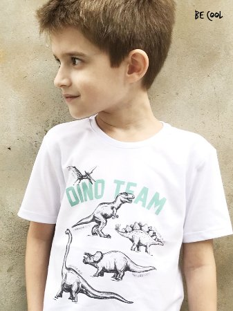 Camiseta Dino Team manga curta menino