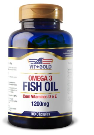 Omega 3 (Fish Oil) 1200mg com Vitaminas D e E 100 cápsulas