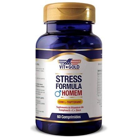 Stress Formula Homem com L-triptofano Vitgold 60 comprimidos
