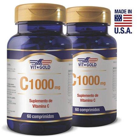 Vitamina C 1000mg Kit 02 Unidades Vitgold 60 Comprimidos