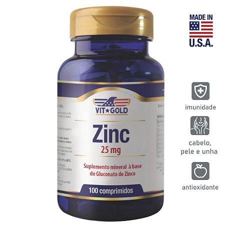 Zinco 25mg Vitgold 100 comprimidos