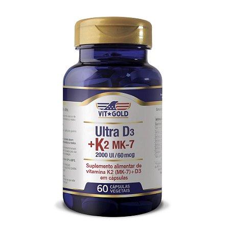 Vitamina K2 60mcg+ D3 2000ui Vitgold 60 caps