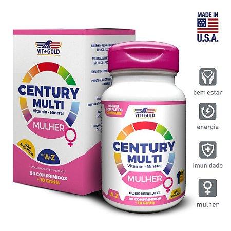 Multivitaminico Century Multi Mulher 90 comprimidos + 10