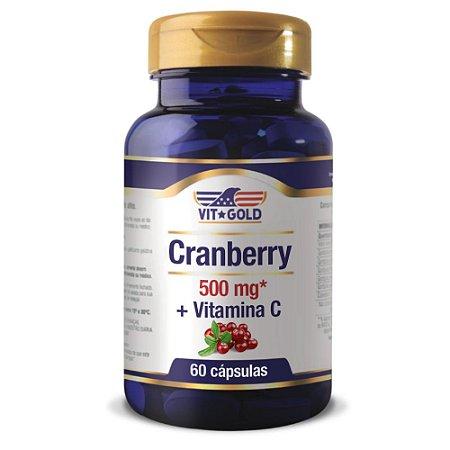 Cranberry 500mg + Vitamina C Vitgold 60 cápsulas