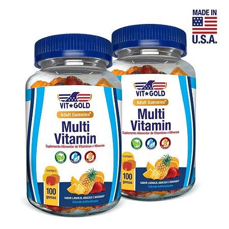 Gummies Multivitamínico Vitgold Kit 2x 100 gomas mastigáveis