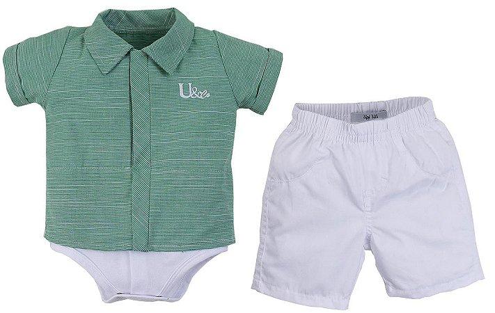 Conjunto Camisa/Body com Bermuda U&Co Diversas Cores - Upi Uli