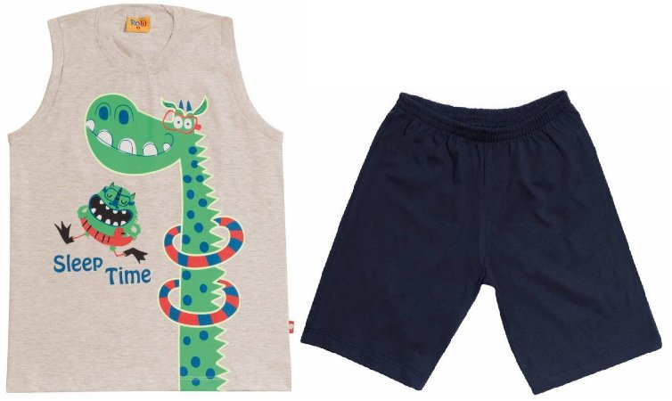Pijama Dino - Brilha no Escuro - Rolú