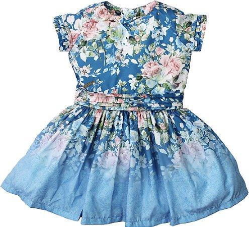 Vestido Floral Azul - Matinée