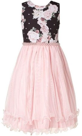 Vestido Floral com Tiara - Plinc Ploc