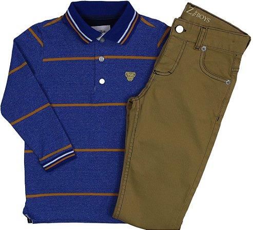 Conjunto Camisa Polo e Calça Jeans Diversos Modelos - Club Z