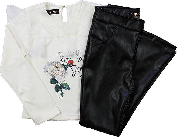 Conjunto Blusa e Calça Corino - Matinée