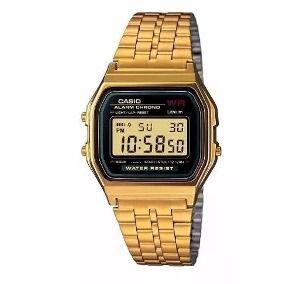 Relógio Casio Retro Dourado Atacado Para Revenda