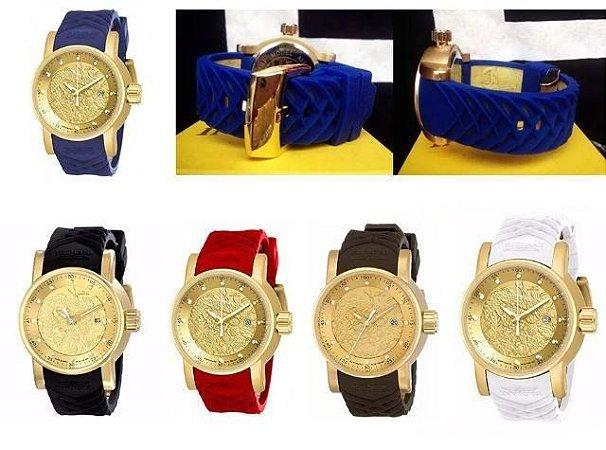 kit 06 Relógios Invicta Yakuza Dragos S1 Atacado Para Revenda