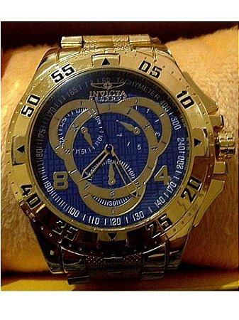 Replica de Relógio Invicta Dourado Grande Frete Grátis