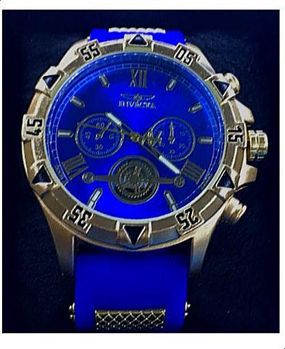 Replica de Relógios Invicta Azul Com Pulseira de Borracha