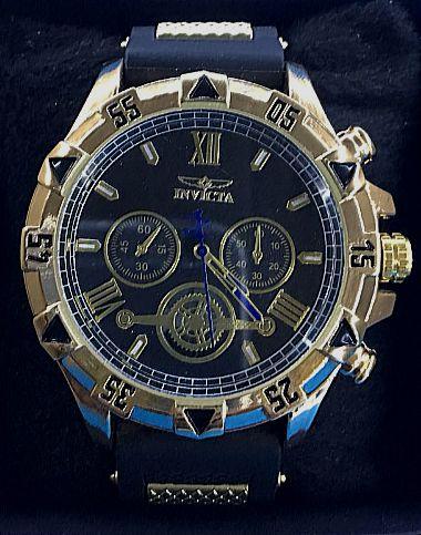 Replica de Relógios Invicta Preto Com Pulseira de Borracha