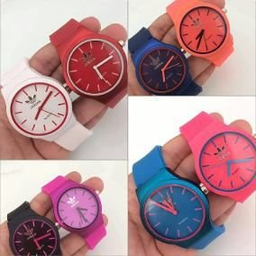Kit 06 Relógios Adidas Feminino De Silicone No Atacado