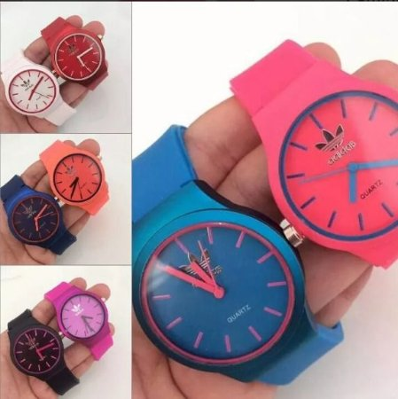 Kit 12 Relógios Adidas Feminino De Silicone No Atacado