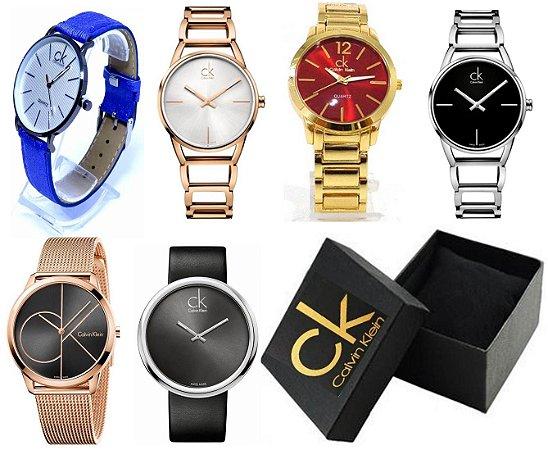 Kit 12 Relógios Calvin Klein Feminino Com Caixinha