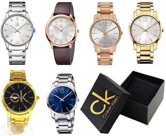 Kit 20 Relógios Calvin Klein Feminino Com Caixinha